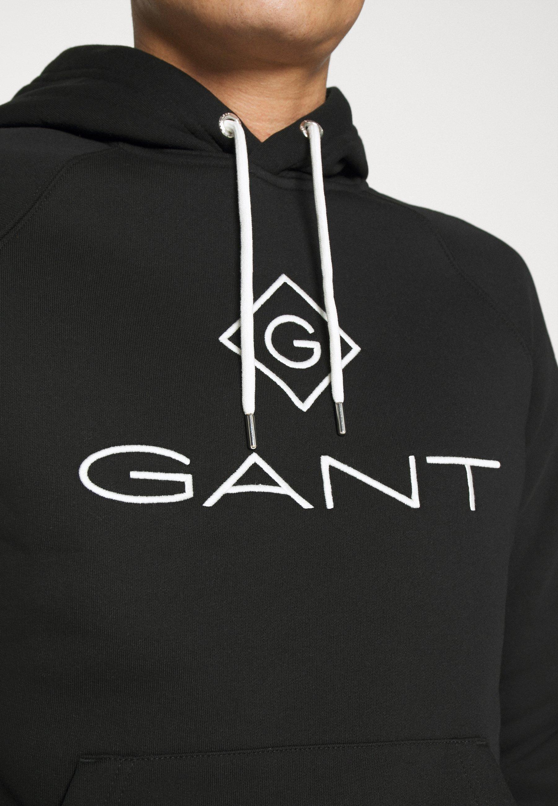 Gant Lock Up Hoodie - Black/svart