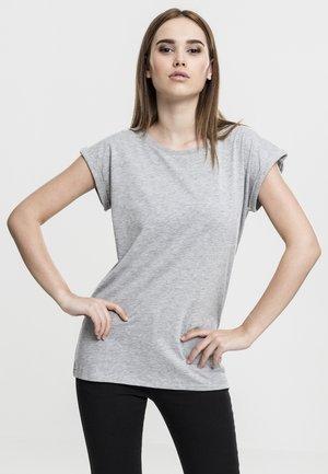 EXTENDED SHOULDER TEE - Basic T-shirt - grey