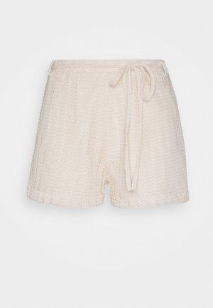 CUTE CROCHET SHORTS - Shorts - beige