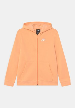 HOODIE CLUB - Zip-up hoodie - orange chalk/white