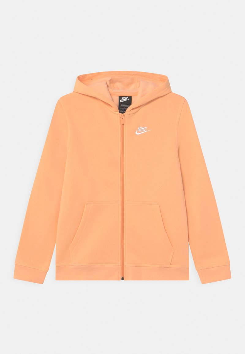Nike Sportswear - HOODIE CLUB  - Sweater met rits - orange chalk/white