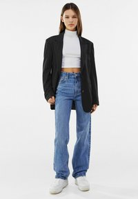 Bershka - Straight leg jeans - dark blue - 1