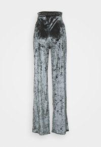 Missguided Petite - CRUSHED BANDEAU AND TROUSER - Pantalones - grey - 4