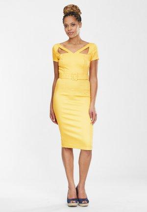 CLODIA - Shift dress - yellow