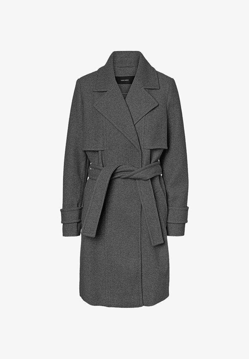 Vero Moda - Classic coat - dark grey melange