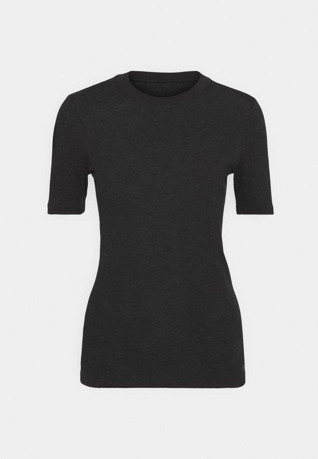 SHORT SLEEVE ROUND NECK - Jednoduché triko - black
