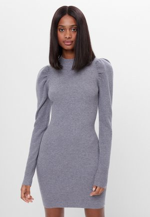 MIT RAFFUNG AN DEN SCHULTERN - Shift dress - grey