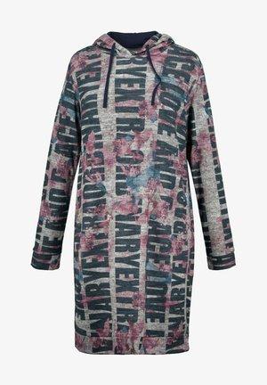 EXTRA FLAUSCHIG, WORDING PRINT - Jersey dress - grau melange