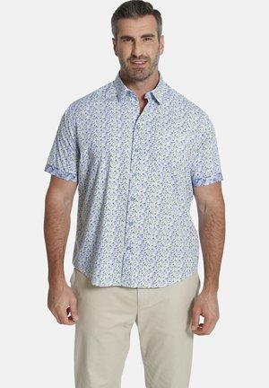 DUKE CECIL - Shirt - blau gemustert