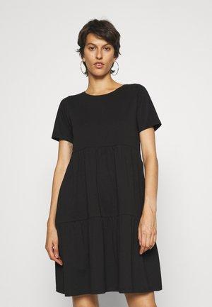 ONLAYCA PEPLUM DRESS - Jersey dress - black