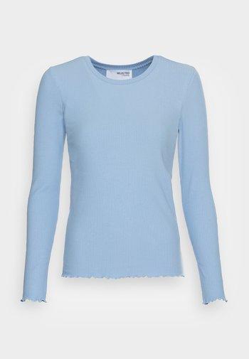 SLFANNA CREW NECK TEE - Long sleeved top - brunnera blue