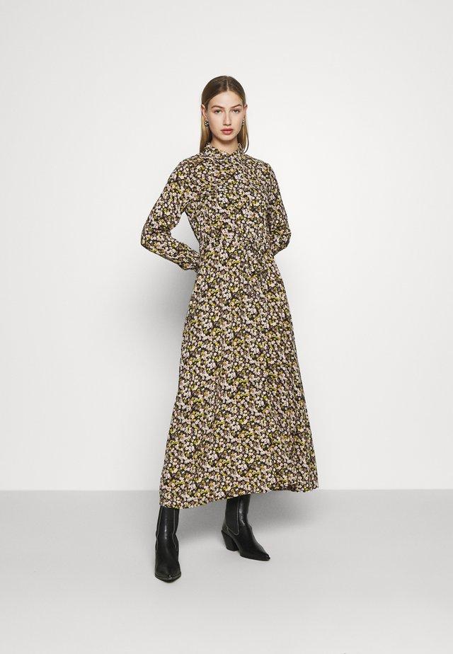 YASNULA LONG DRESS - Shirt dress - black/nula
