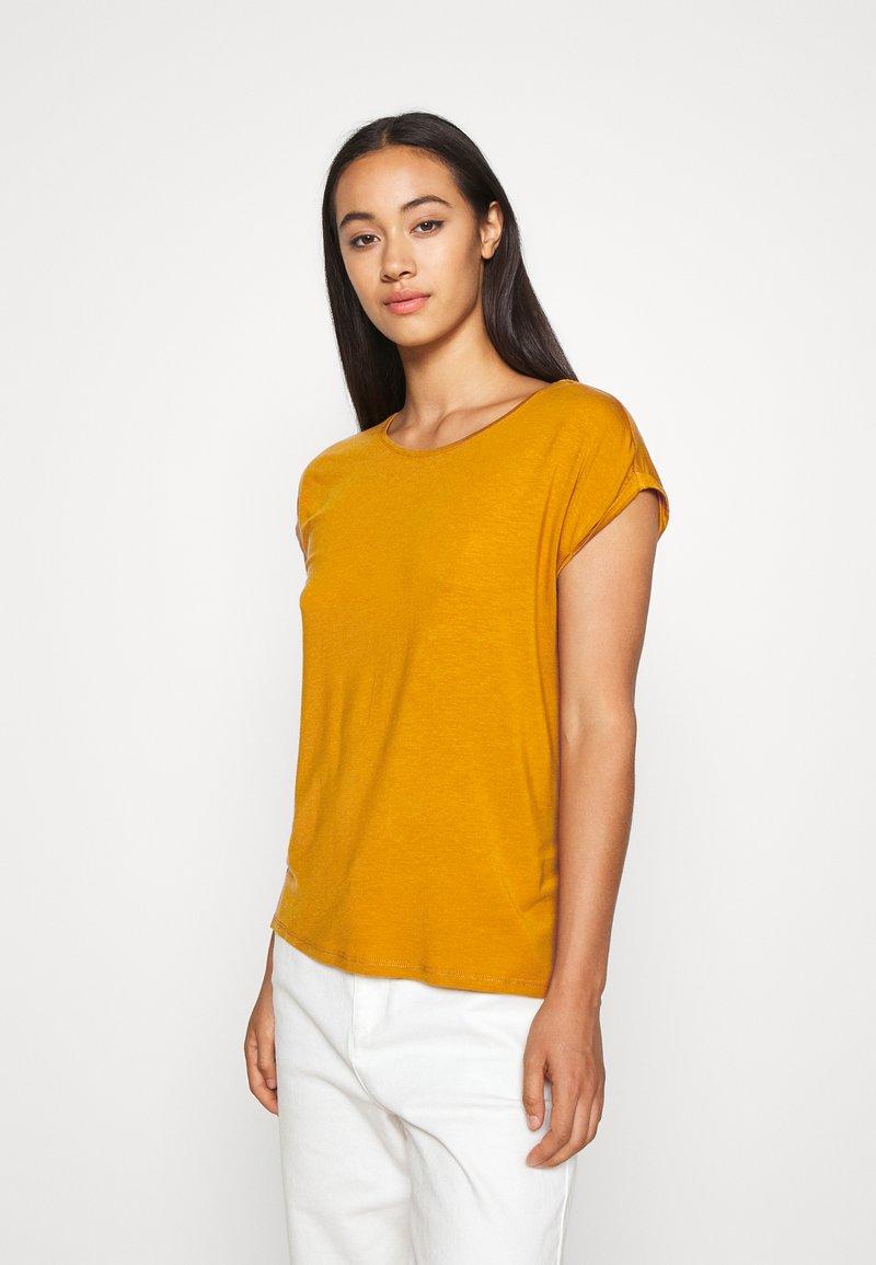 Vero Moda - VMAVA PLAIN - T-shirt basic - buckthorn brown