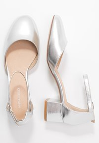 Anna Field - LEATHER CLASSIC HEELS - Classic heels - silver - 3