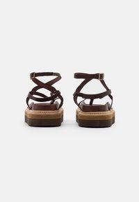 Jeffrey Campbell - ESTRELLA - T-bar sandals - dark brown - 3