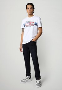 Napapijri - SILEA - Print T-shirt - bright white - 1