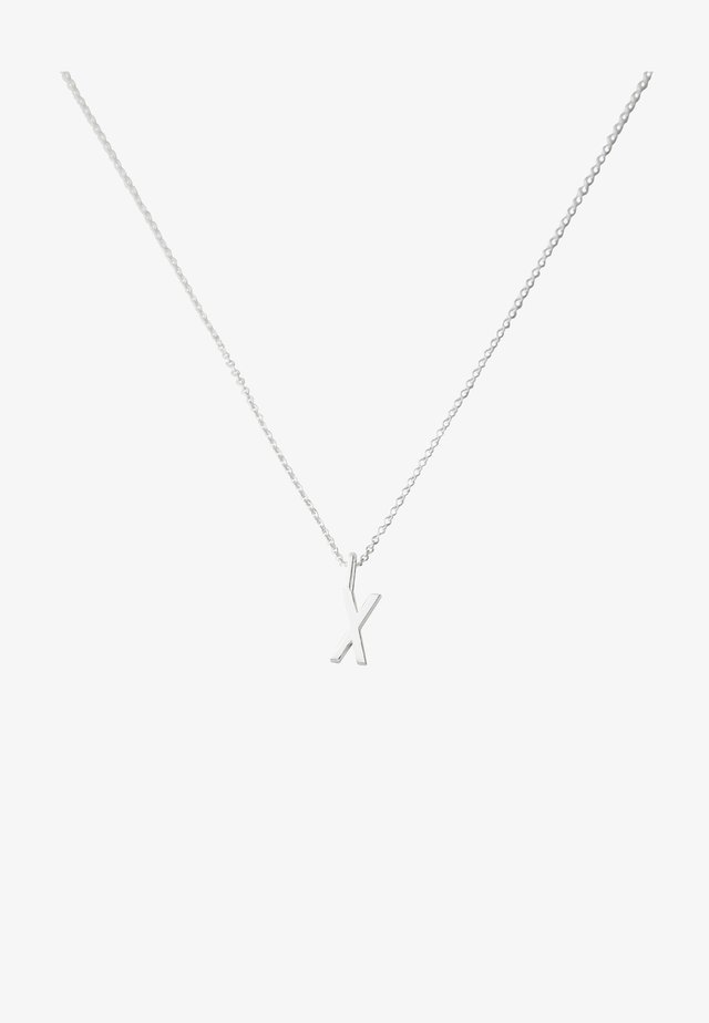 10MM A-Z CHARM WITH 45CM NECKLACE - SILVER - Collier - silver