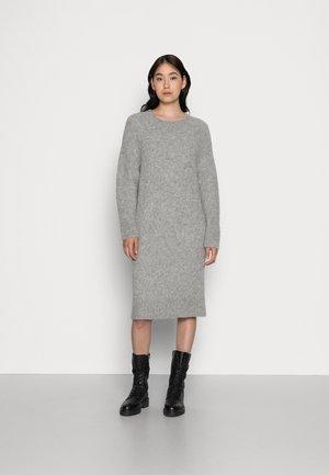 LOTTA - Jumper dress - grey melange
