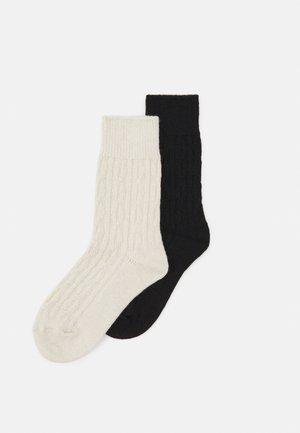 WOMEN HYGGE SOCKS 2 PACK - Skarpety - black/white