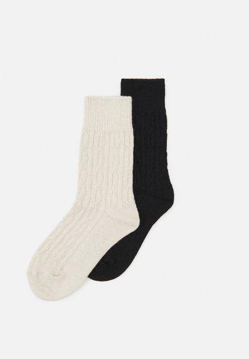 WOMEN HYGGE SOCKS 2 PACK - Socks - black/white