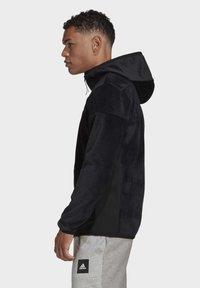 adidas Performance - ADIDAS Z.N.E. FULL-ZIP VELOUR HOODIE - Zip-up hoodie - black - 2