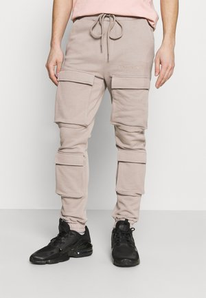SLIM FIT CARGO JOGGER - Cargobroek - washed taupe
