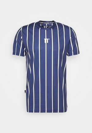 VERTICAL STRIPE TEE - T-shirts med print - navy/white