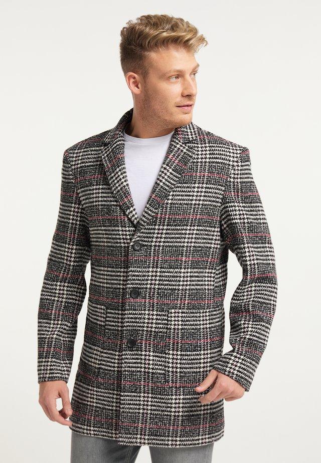 Krótki płaszcz - schwarz weiss