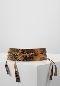 TWINSET - PYTHON SASH BELT - Waist belt - pitone brandy - 0