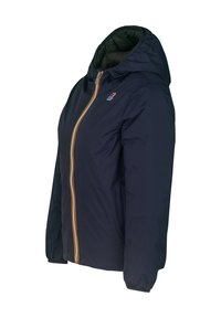 K-Way - THERMO PLUS.2 DOUBLE - Down jacket - green dk olive-yellow lemon - 1