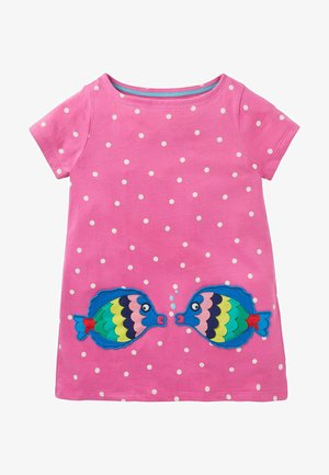 SOMMER - Print T-shirt - rosarot, getupft/fische