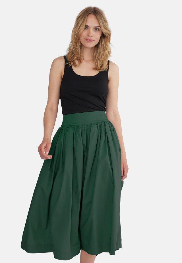 A-linjekjol - dark green