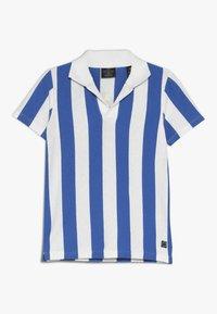 Scotch & Soda - SHORT SLEEVE DYED STRIPES + ARTWORKS - Polo shirt - blue/white - 0