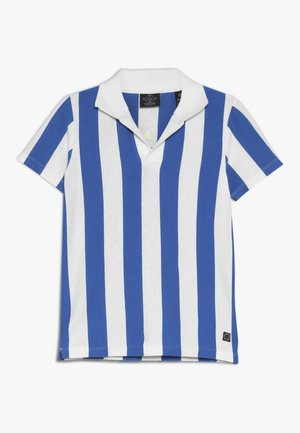 SHORT SLEEVE DYED STRIPES + ARTWORKS - Polotričko - blue/white