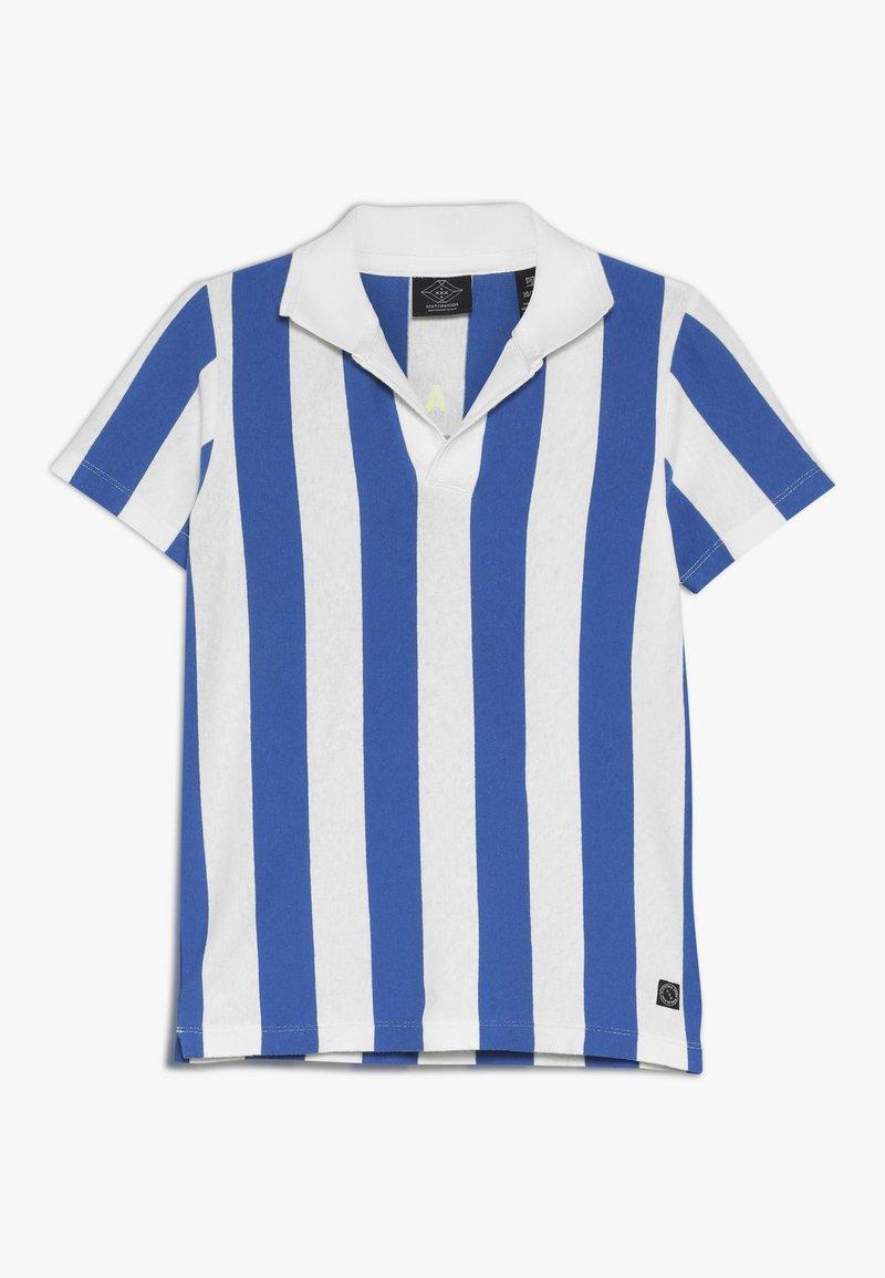 Scotch & Soda - SHORT SLEEVE DYED STRIPES + ARTWORKS - Polo shirt - blue/white