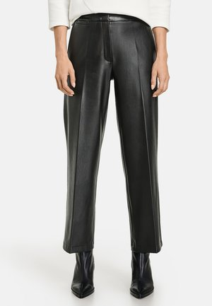 Pantalón de cuero - schwarz