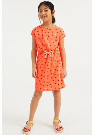 MET KRABDESSIN - Korte jurk - bright orange