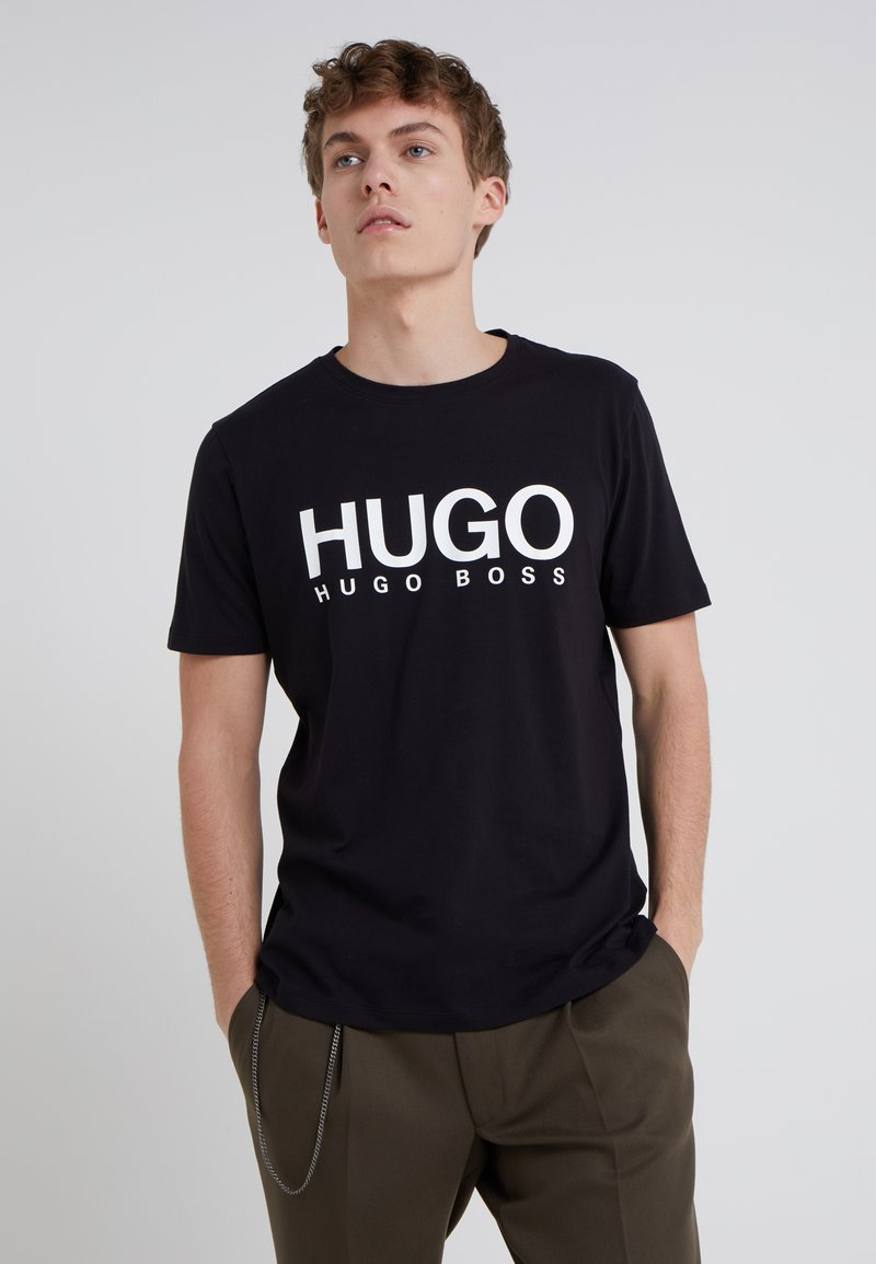 HUGO - DOLIVE - Print T-shirt - black