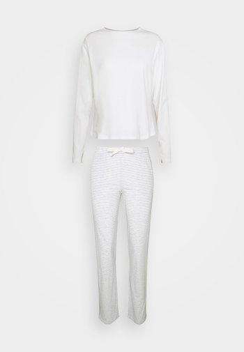 LOUNGE CREW NECK - Pyjamas - kalkweiß