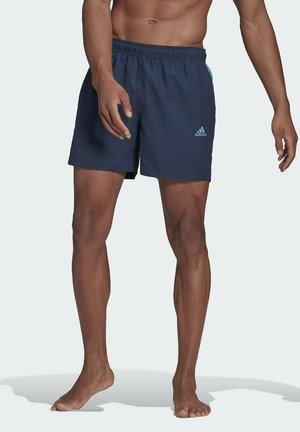 SHORT-LENGTH COLORBLOCK 3-STRIPES SWIM SHORTS - Swimming shorts - blue