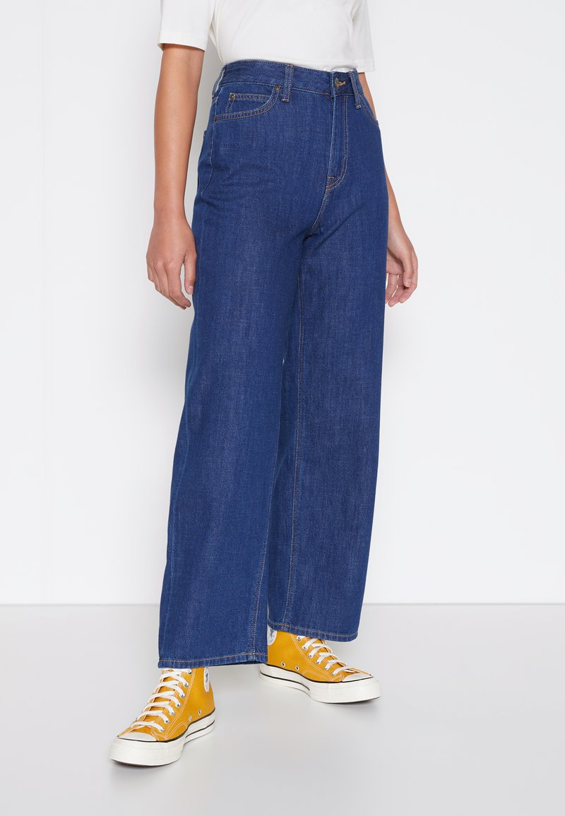 Lee - WIDE LEG - Jeans relaxed fit - rinsed denim