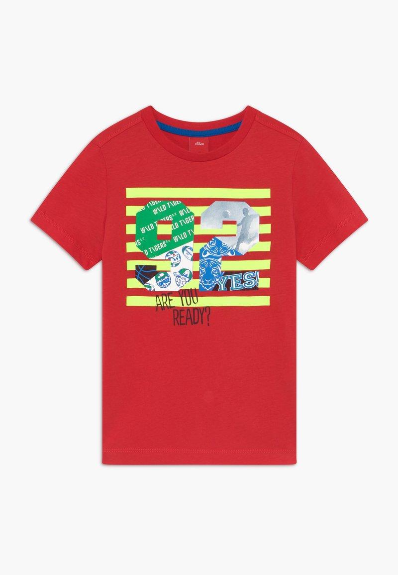 s.Oliver - KURZARM - Print T-shirt - red