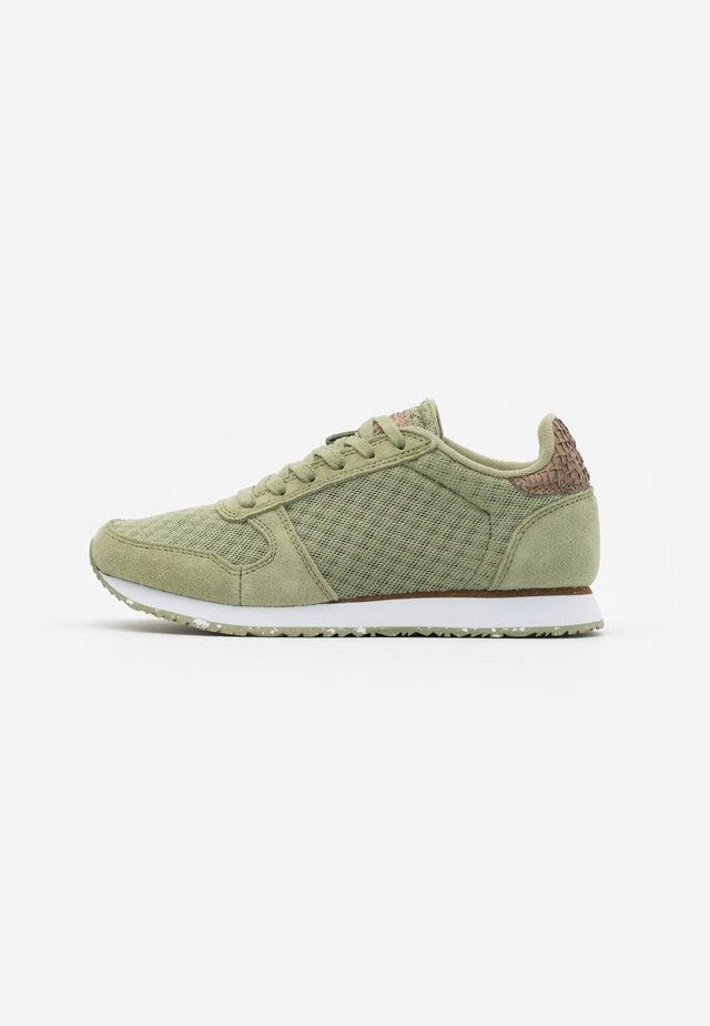 YDUN SUEDE MESH II - Baskets basses - dusty olive