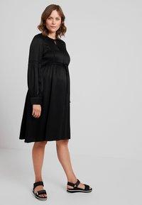 IVY & OAK Maternity - TUNIC DRESS - Vestito estivo - black - 0