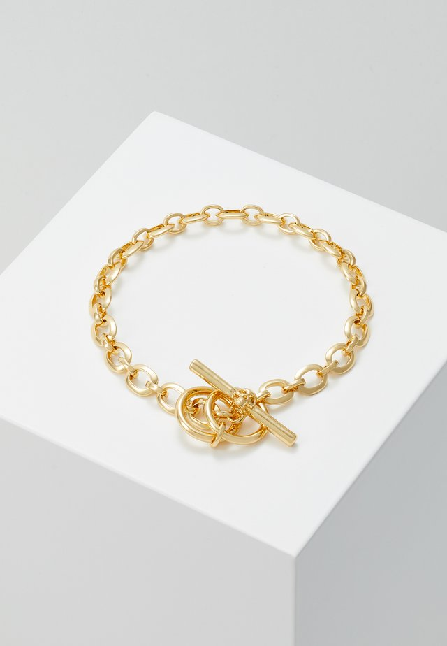 ATTICUS SKULL BAR CHAIN BRACELET - Bracelet - gold-coloured