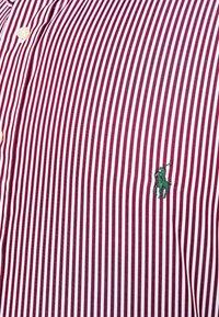 Polo Ralph Lauren Big & Tall - LONG SLEEVE SPORT SHIRT - Shirt - wine/white - 6