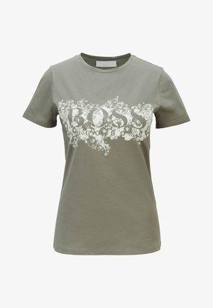 C_ELOGO - T-shirt con stampa - dark green