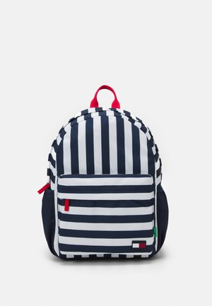 CORE BACKPACK STRIPES UNISEX - Rucksack - twilight navy/white