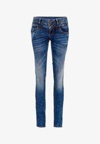Cipo & Baxx - MIT COOLEM DOPPEL-BUND - Slim fit jeans - blau - 8