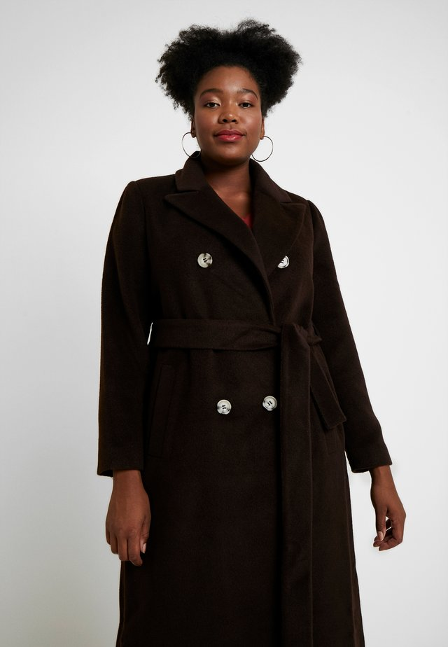 MASCULINE COAT - Płaszcz wełniany /Płaszcz klasyczny - chocolate